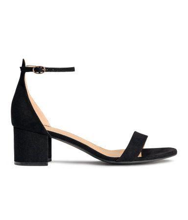Sandaletten mit Fesselriemen | Schwarz | Ladies | H&M 24,99 €