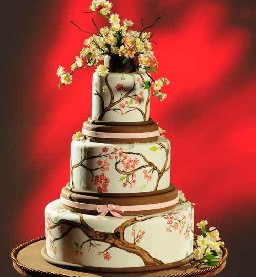 Cherry-blossom_large Orange County Wedding Cakes at Christopher Garrens Let Them Eat Cake Costa Mesa / Newport Beach California Los Angeles San Diego Pastry Special Occasion Cake Party Cake .