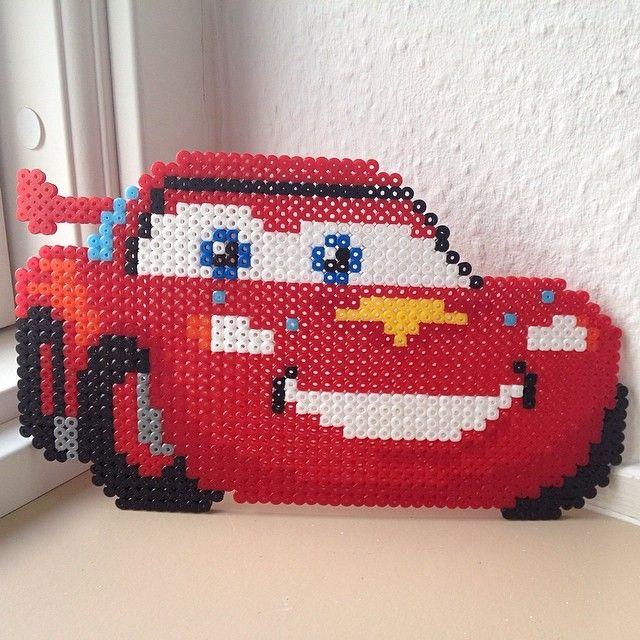McQueen Cars perler beads by frkjohanneemilie
