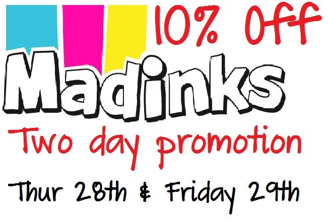 Fancy a 10% discount on your ink and toner? Check out our great offer below which we will be running for the last two days of this week! For more information visit https://www.madinks.ie