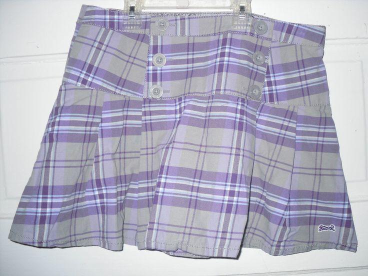 le tiger skirts junior skirt sz 11 mini plaid