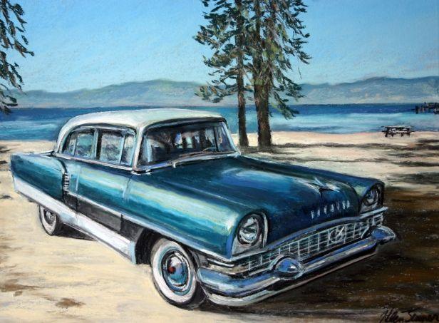 Vintage Car Oil Paintings