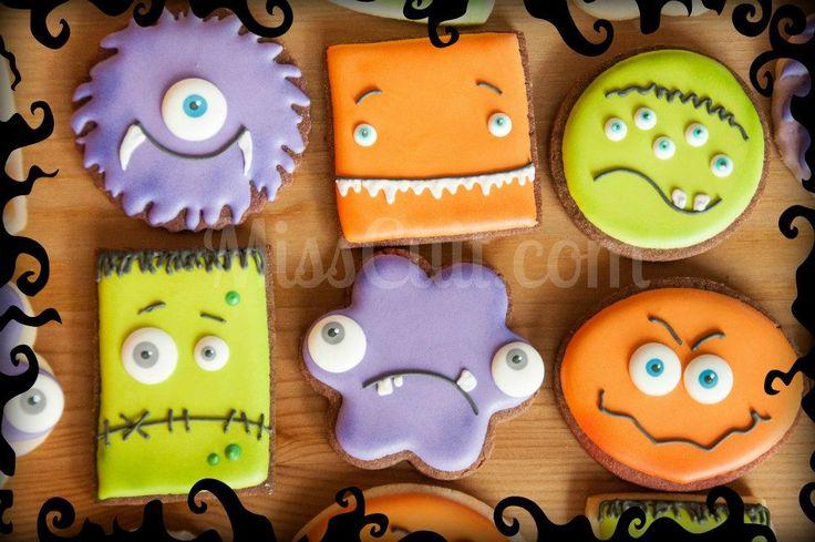 sablés décorés monstres Halloween
