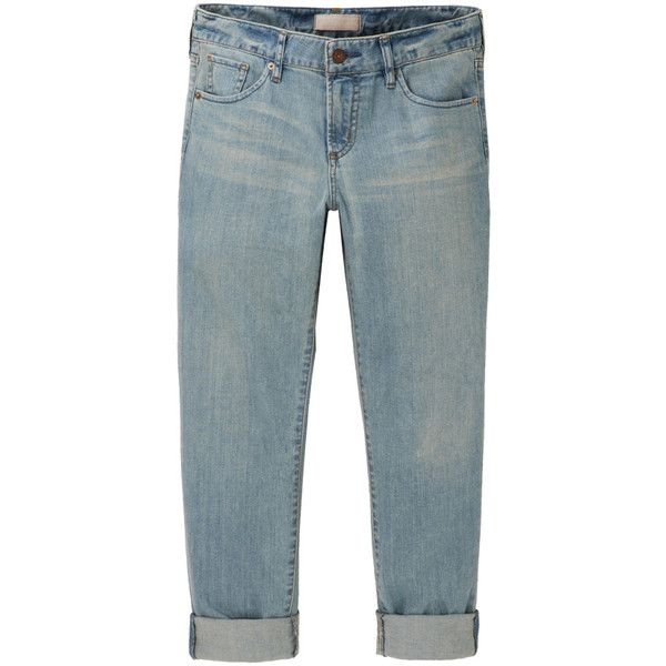 UNIQLO Women Slim Boyfriend Fit Cropped Jeans ($40) ❤ liked on Polyvore