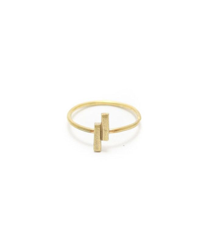 Double Bar Ring  |  Gold Plated