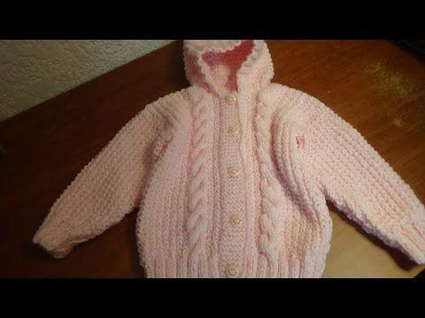 Sueter con gorro para bebé talla 18 meses parte 4, gorro. - YouTube
