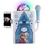 Kids Karaoke Disco Ball Karaoke Machine Kit de altavoces portátiles para niños / Niños Juguetes con micrófono Barra de flash Karaoke con reproductor de MP3 AUX Jack punto para conectar su iPad, iPhone, iPod, Tablet dispositivo o el reproductor de CD para reproducir música y cantar junto! (Congelado) - http://themunsessiongt.com/kids-karaoke-disco-ball-karaoke-machine-kit-de-altavoces-portatiles-para-ninos-ninos-juguetes-con-microfono-barra-de-flash-karaoke-con-reproducto