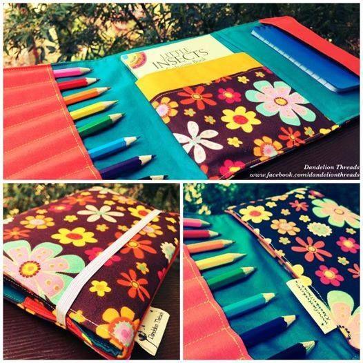 Handmade by Dandelion Threads Fabulous Flowers Activity Wallet