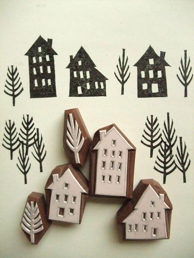 Des tampons maisons sur Etsy | DIY Loisirs Créatifs My Diy