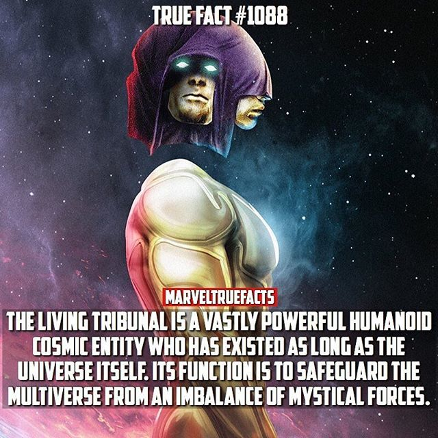 Here's an introduction fact for those unfamiliar with The Living Tribunal. ☄️ -------- Artwork: @bosslogic