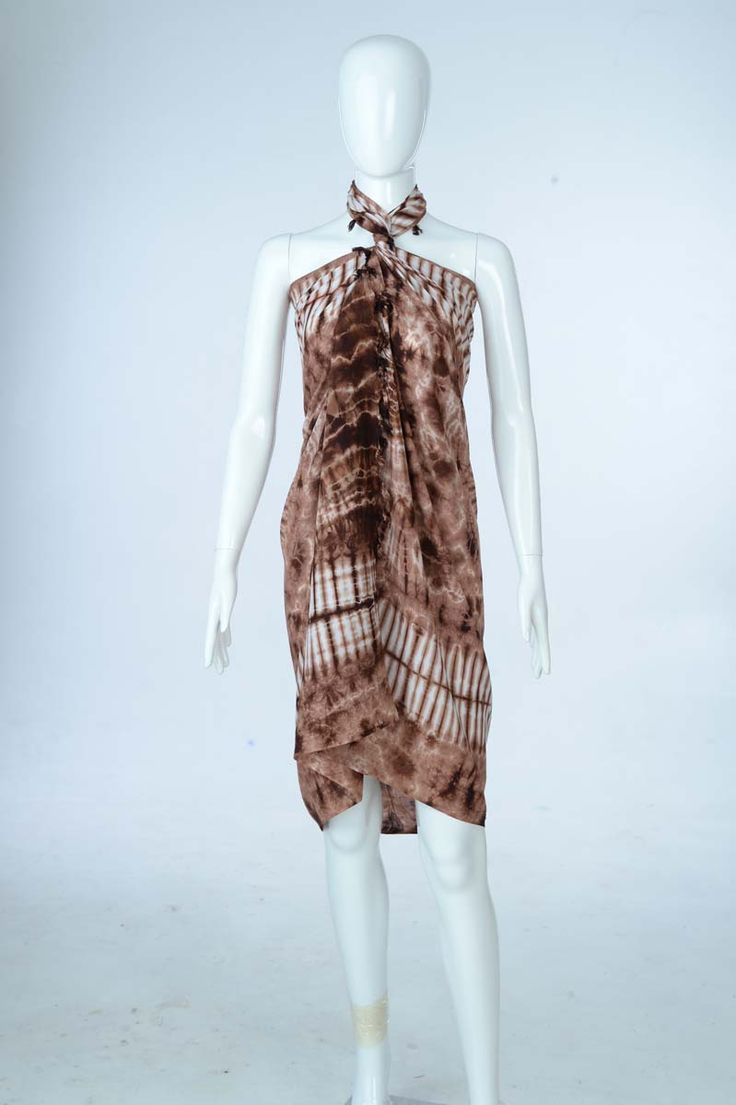 Sure Design Clothing Style - Womens Scarf-Tye Dye Scarf- Brown - Thai Style