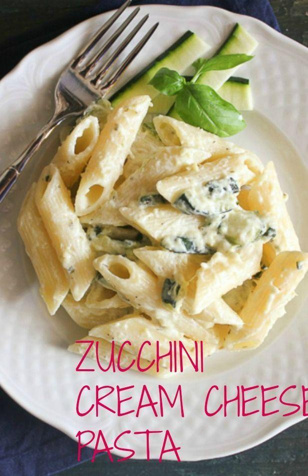 Zucchini Cream Cheese Pasta, a quick, easy and healthy zucchini pasta recipe, the perfect lunch or dinner dish. The kids will love it! /anitalianinmykitchen.com