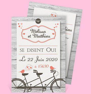 Faire-part mariage réf. N24135 chez monFairePart.com