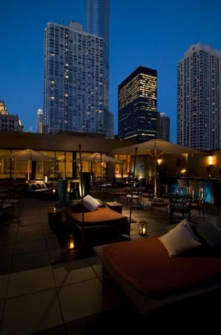 The rooftop bar at the Conrad Hilton in Chicago. Speaking of staying at this hotel, our suite had the most comfortable bed and the biggest glass shower I absolutely loved.