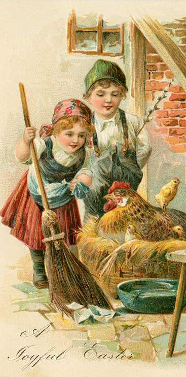.Vintage Easter Postcard