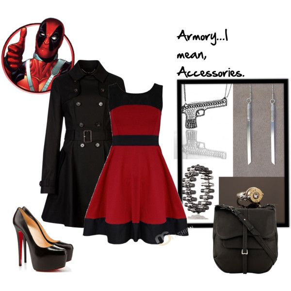 Deadpool- don't know who that is - but love the dress and coat