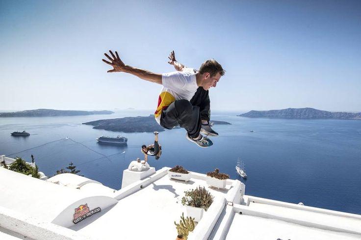 Parkour and free running on Santorini island  www.callgreece.gr