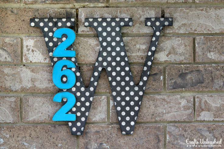 DIY House Numbers With Monogram - Crafts Unleashed