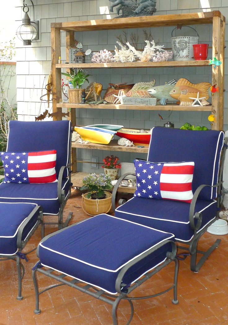 Patriotic Outdoor Space With Coastal Influences, By Barclay Butera.