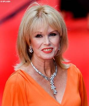 Natural beauty: Joanna Lumley wore her laughter lines with pride at the BAFTAs on Sunday night