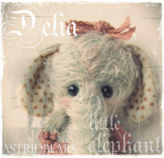 elephant pattern Delia by ASTRIDBEARS  Astrid Maas by Astridbears, $13.00