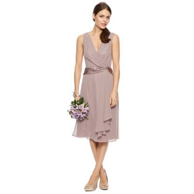 Elisa Satin Twist Midi Dress at debenhams.com