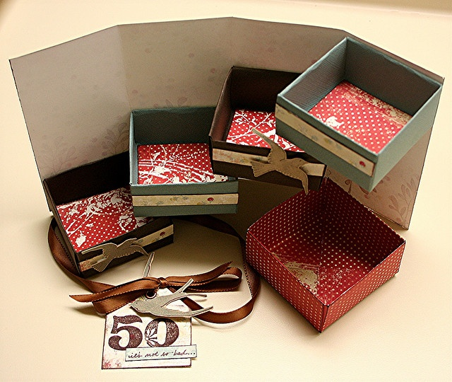 Ohhhh My!!! Look at this wonderful box!! What a creative and beautiful way to give a gift (or 4!!) Or even a great way to organize some of your small items!! :) Very good directions too!! :)