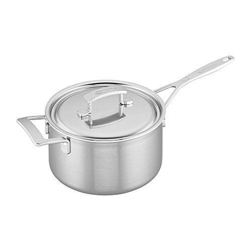 Demeyere Industry 5-Ply 4-qt Stainless Steel Saucepan
