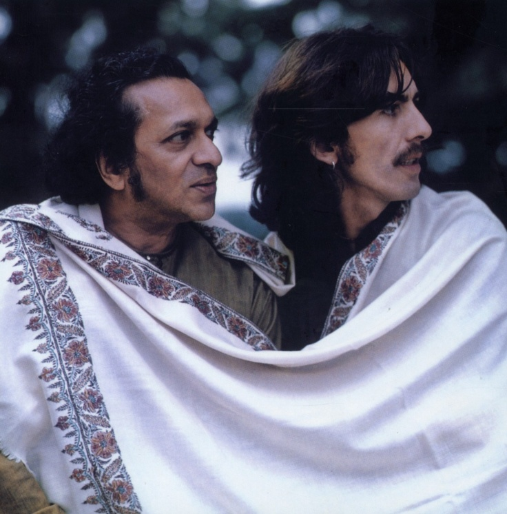 Ravi Shankar and George Harrison.