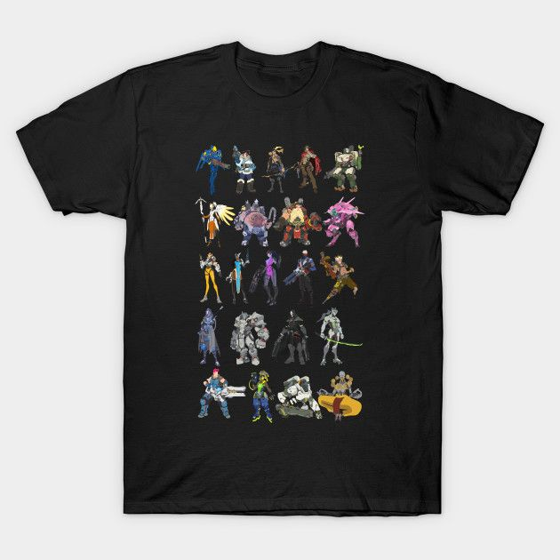 Overwatch Heroes t-shirt on @teepublic