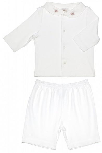 Enfant Cotton White Pyjama Set