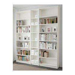 IKEA - BILLY, Estante, branco, , As prateleiras são reguláveis para que possa personalizar a arrumação de acordo com as suas necessidades.As prateleiras estreitas permitem usar eficazmente o espaço de paredes pequenas, acomodando artigos pequenos no mínimo de espaço.