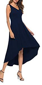 96eb0cfd0e3 Amazon.com  Sarin Mathews Women Off The Shoulder Short Sleeve High Low  Cocktail Skater Dress Black S  Clothing