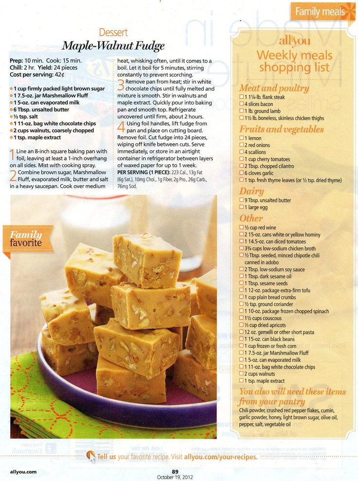 Maple-Walnut Fudge from All You