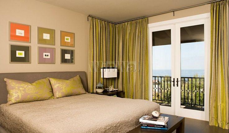 Шторы на угловые окна в спальне-13