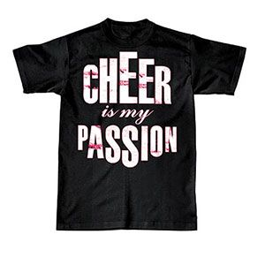 NEW and IN STOCK! Cheer is my Passion T-Shirt by Cheerleading Company