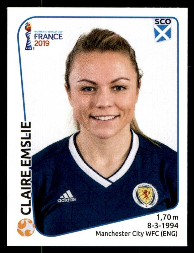 Panini Women S World Cup 2019 Claire Emslie Scotland No 283 1 39 World Cup Women S World Cup Fifa Women S World Cup