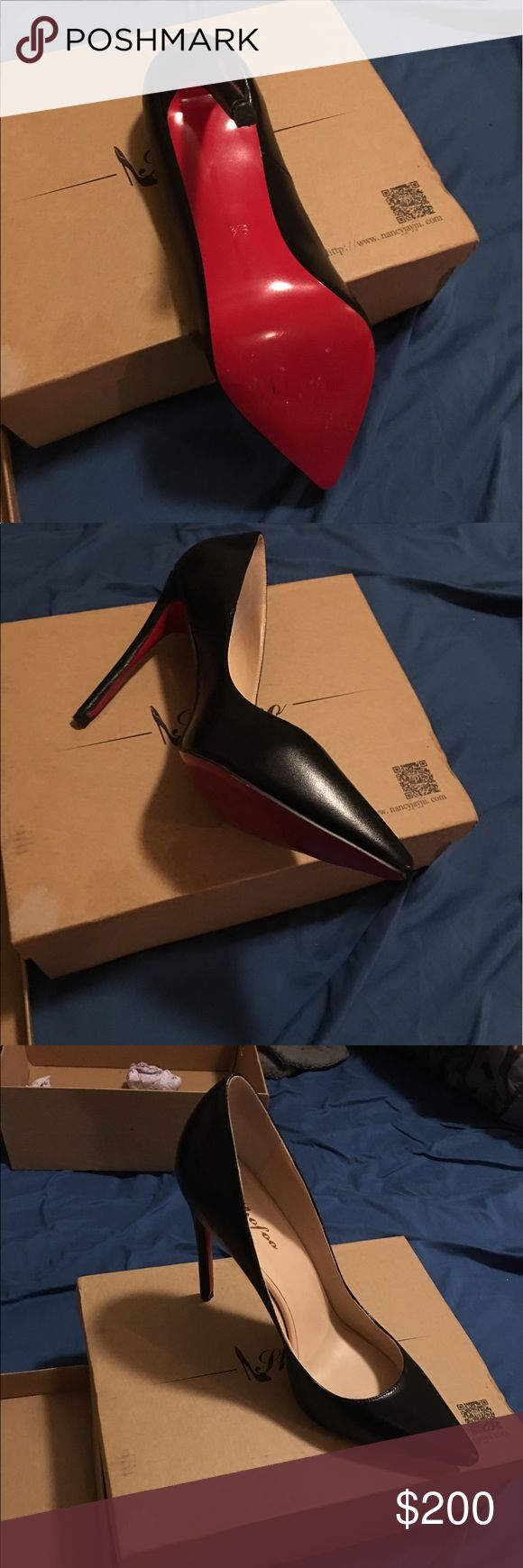 Thofoe red se ladies shoes Red sole ladies shoes. So cute and Katy has been worn once for a party. Looks new. Says size 8.5 but it's a real size 10 American size Thofoe Shoes Platforms