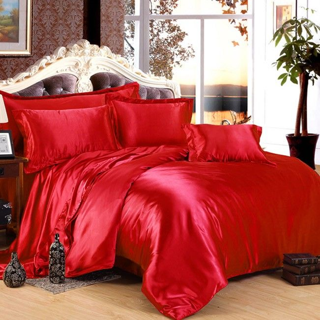 #silk sheet set #Red