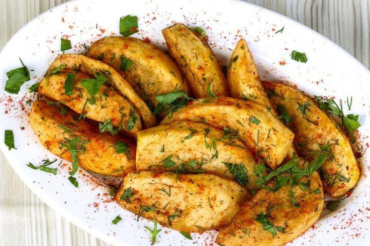 Pommes de terre rôties, ail et parmesan
