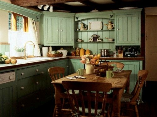 Inspirational Primitive Painted Kitchen Cabinets