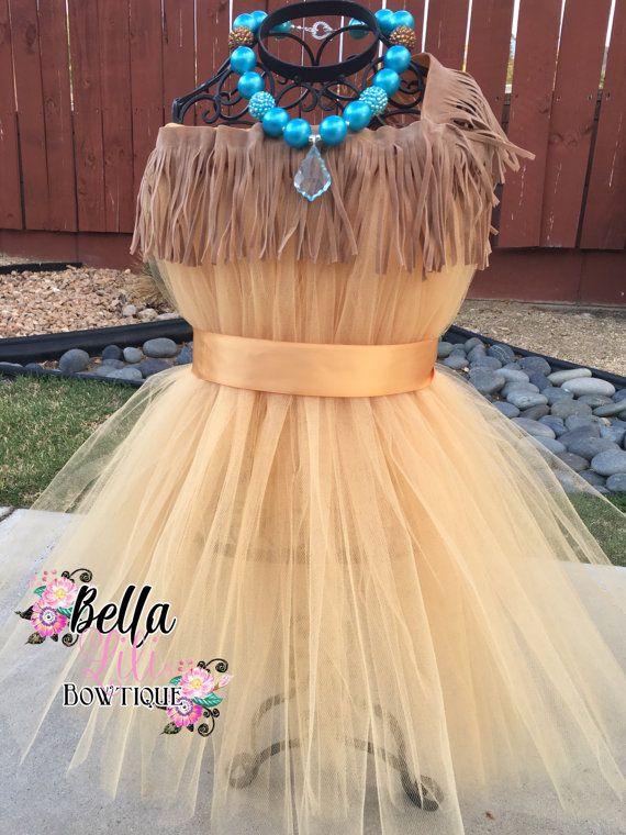 Pocahontas Inspired Native Princess Tutu Dress Costume 6mo-4t
