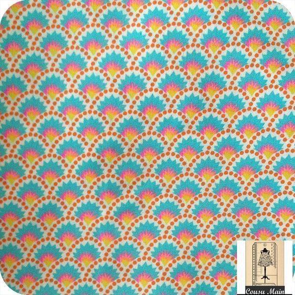 Tissu coton imprim graphique japonais vagues stylis es for Ameublement japonais