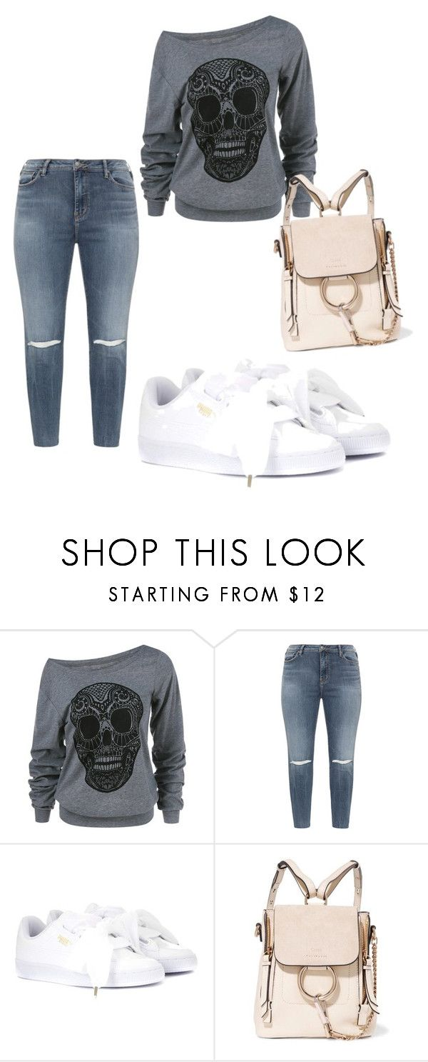 """Fall uniform"" by denise-ealy on Polyvore featuring Silver Jeans Co. and Puma"