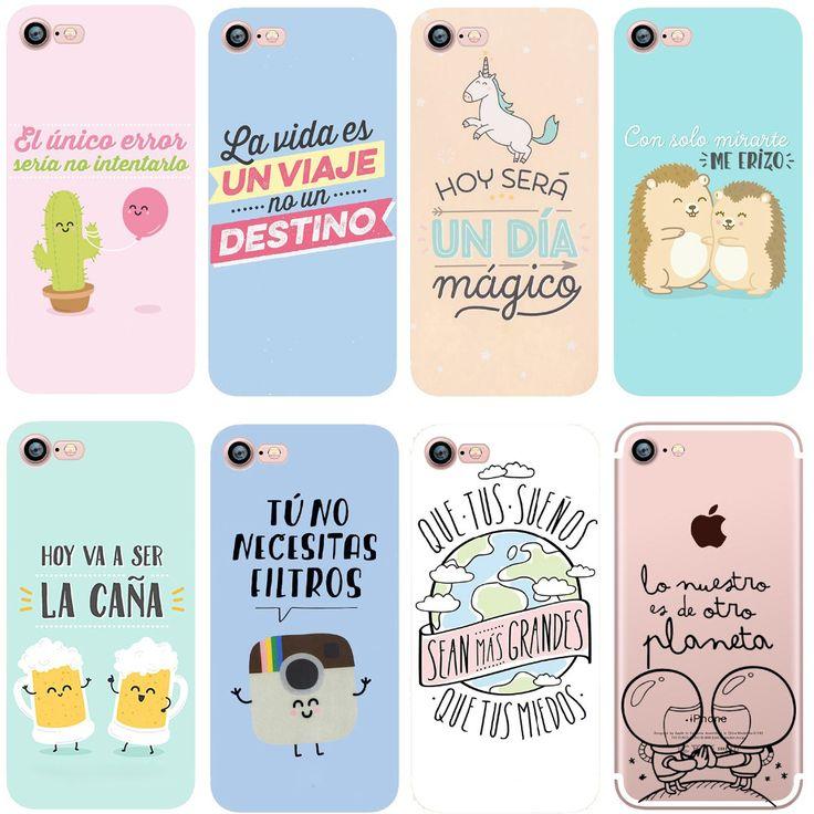 Phone cases spain fashion wonderful Cartoon clear soft silicon fundas case cover for Apple iPhone 6 6S 6plus 5s SE 7 7plus