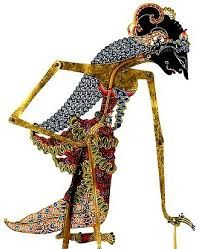 Sinta is Bima's wife in the Ramayana and is kidnapped by Rahwana, Wayang Kulit, Leather, Surakarta Central Java
