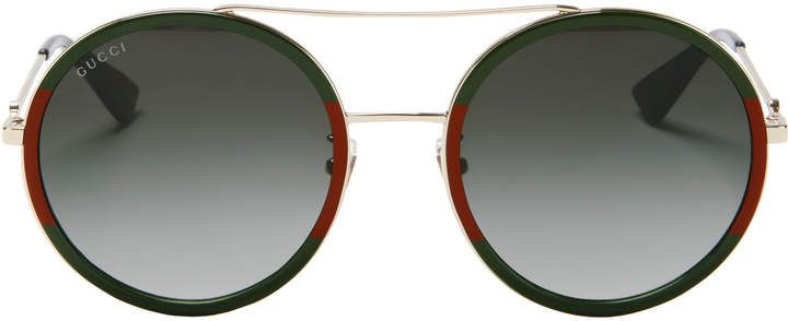 d462598a76a3 Gucci Colorblock Round Aviator Sunglasses in 2019 | Products ...