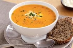 Pumpkin soup. Very yummy