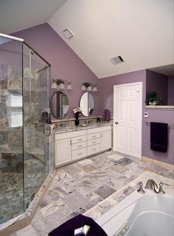 35 Best Purple Bathroom Ideas Purple Bathrooms Lavender Bathroom Bathroom Color Schemes