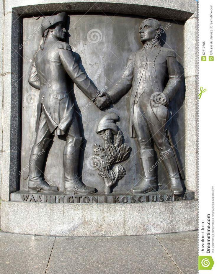 kosciuszko tadeusz | Tadeusz Kosciuszko and George Washington on the pedestal of the ...
